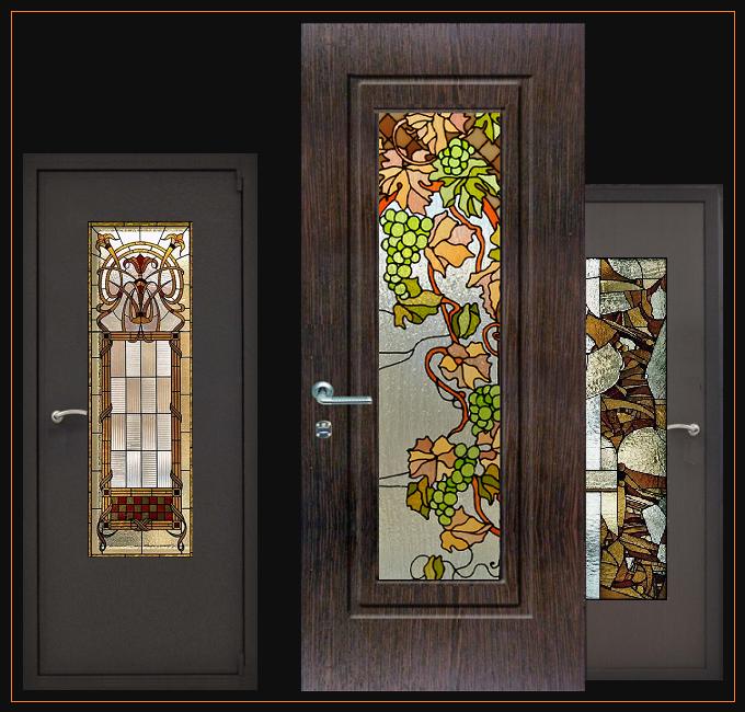 художественные входные двери